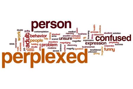 Perplexed word cloud concept