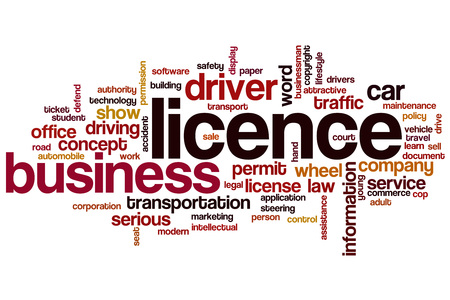 licence: Licence word cloud concept