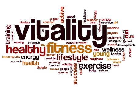 Vitality word cloud concept