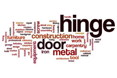 hinge: Hinge word cloud concept Stock Photo