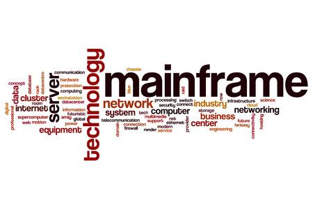 mainframe: Mainframe word cloud concept