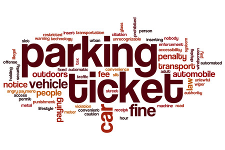 Parking ticket word cloud concept Stock Photo