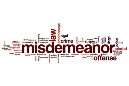 delincuencia: palabra delito menor concepto de la nube