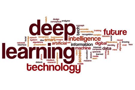 Deep learning word cloud concept Foto de archivo