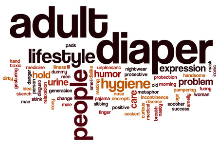incontinence: Adult diaper word cloud concept