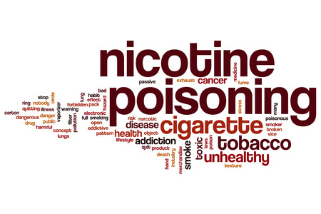 poisoning: Nicotine poisoning word cloud concept