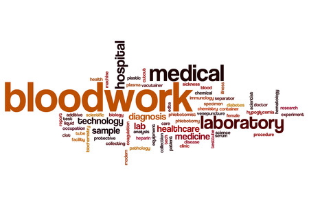 phlebotomist: Bloodwork word cloud concept