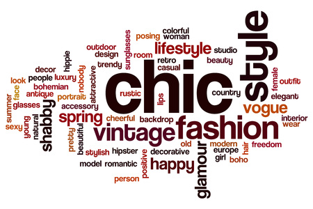 chic: Chic word cloud concept