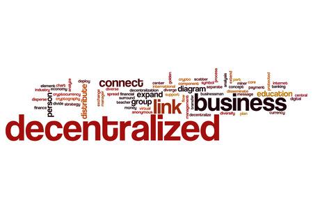 decentralized: Decentralized word cloud concept Stock Photo