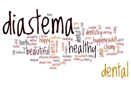 chomp: Diastema word cloud concept Stock Photo