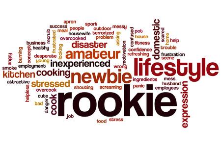 Rookie word cloud concept