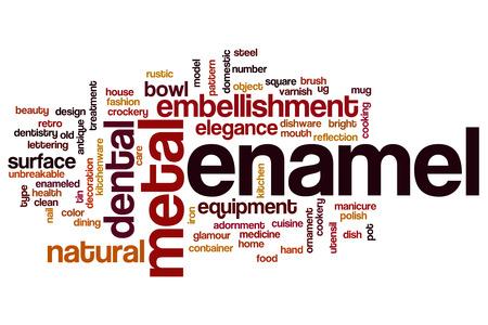 enamel: Enamel word cloud concept