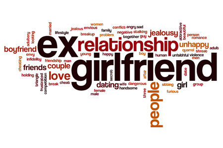 unfaithful: Ex girlfriend word cloud concept