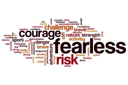 Fearless word cloud concept