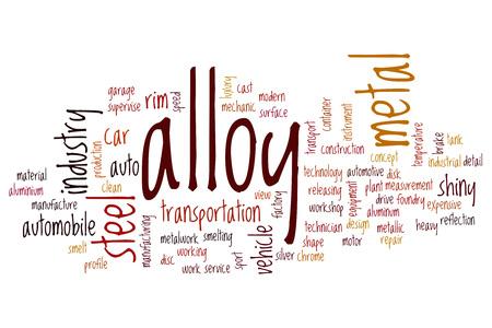 alloy: Alloy word cloud concept