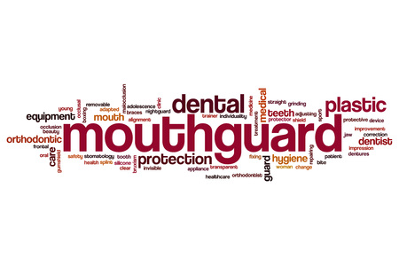 Mouthguard word cloud concept