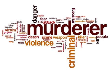 Murderer word cloud concept Stock Photo