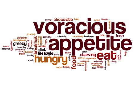 voracious: Voracious appetite word cloud concept Stock Photo