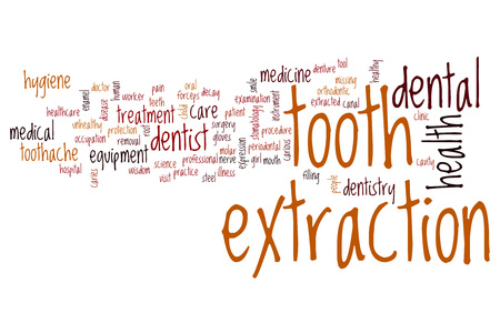 tooth extraction: Tooth extraction word cloud concept