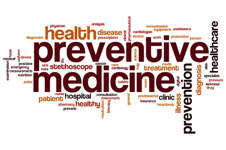 preventive medicine: Preventive medicine word cloud concept