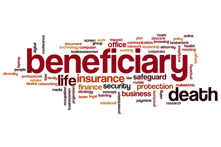 Beneficiary word cloud concept