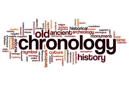 cronologia: Cronología palabra concepto de la nube