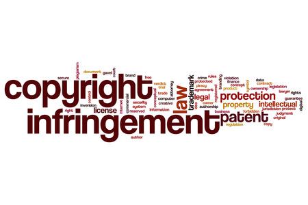 Copyright infringement word cloud concept
