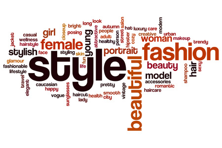 style: Style word cloud concept