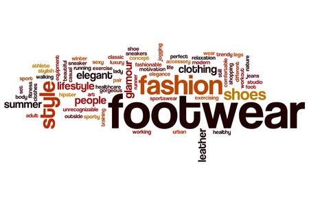 footwear: Footwear word cloud concept