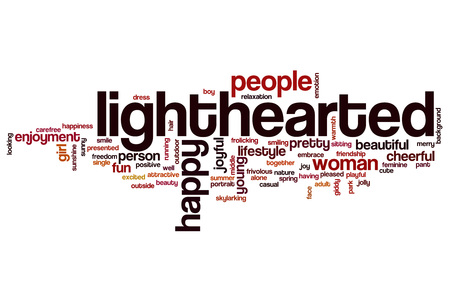 lighthearted: Lighthearted word cloud concept