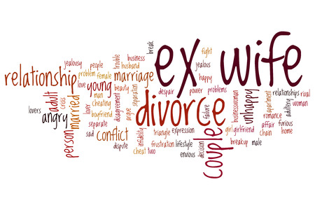 ex wife: Ex wife word cloud concept