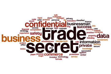 trade secret: Trade secret word cloud concept