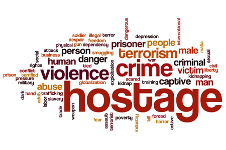 Hostage word cloud concept