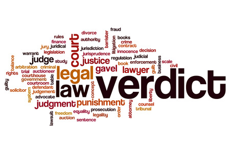 auctioning: Verdict word cloud concept Stock Photo