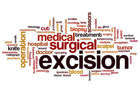 mammography: Excision word cloud concept