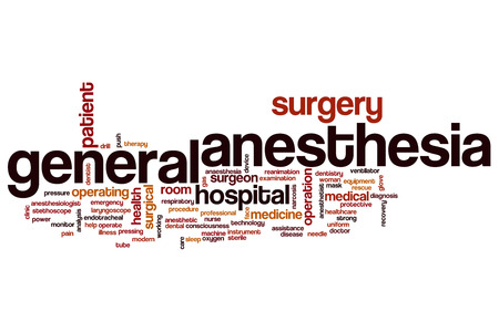 medical ventilator: General anesthesia word cloud concept