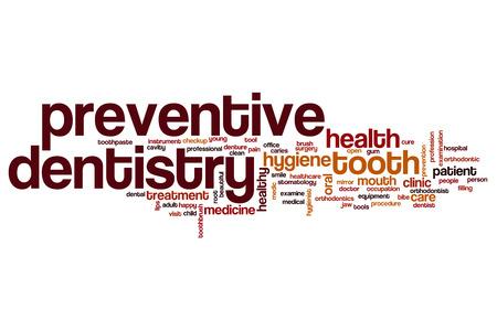 Preventive dentistry word cloud concept