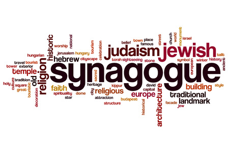 synagogue: Synagogue word cloud concept Stock Photo