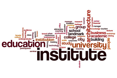 Institute word cloud concept