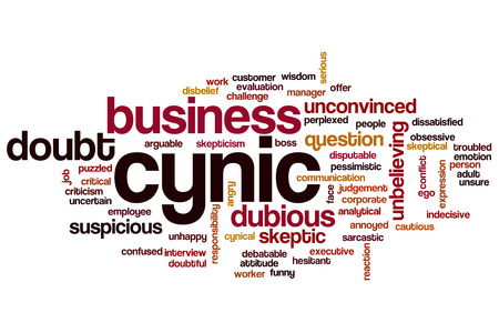 skepticism: Cynic word cloud concept