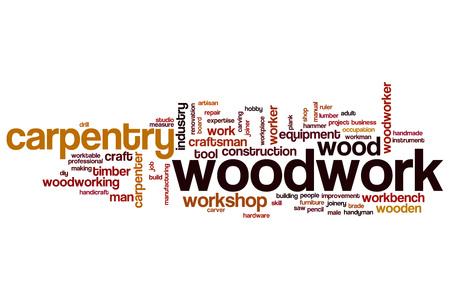 woodwork: Woodwork word cloud concept Stock Photo
