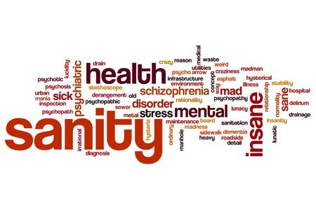 psychopathy: Sanity word cloud concept