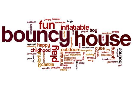 brincolin: palabra casa hinchable concepto de la nube
