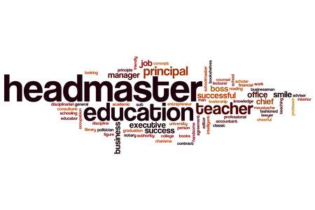 director de escuela: Headmaster word cloud concept