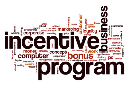 programs: Incentive program word cloud concept