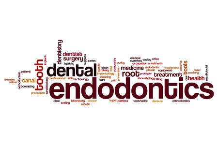 Endodontics word cloud concept