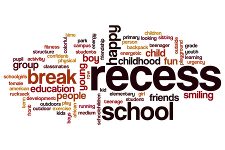 recess: Recess word cloud concept