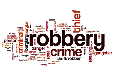 Robbery word cloud concept Stock Photo