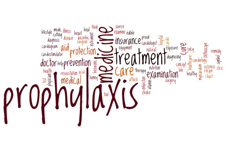 myocardium: Prophylaxis word cloud concept Stock Photo