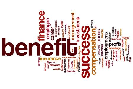 Benefit word cloud concept